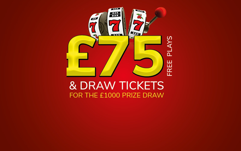 Stamp your way to £75 FREE PLAYS* AND the £1000 PRIZE DRAW*