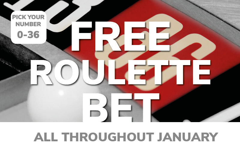 Get your FREE Roulette Bet this January!