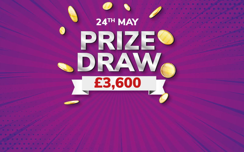 Stamp your way to £75 FREE PLAYS AND the PRIZE DRAW.