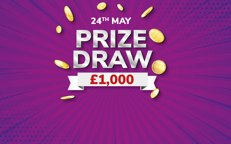 Stamp your way to £100 FREE PLAYS AND the PRIZE DRAW.