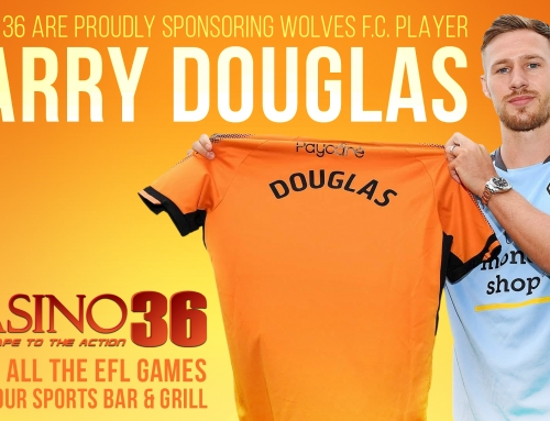 Casino 36 Sponsors Wolves Defender Barry Douglas