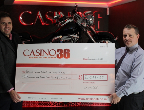 Casino 36 Charity Lunch raises over £2000 for Breast Cancer Now!